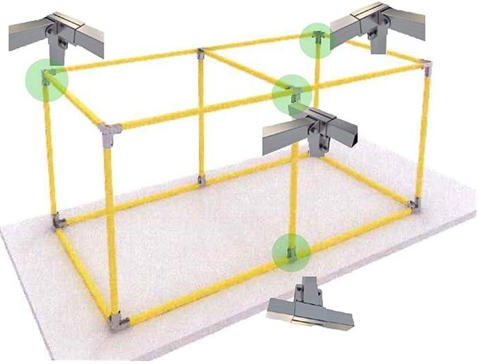 KIT Estructura para caseta o cobertizo doble (1 Agua) - KIT completo estructura metálica - 4x2x2,5m (h): Amazon.es: Bricolaje y herramientas