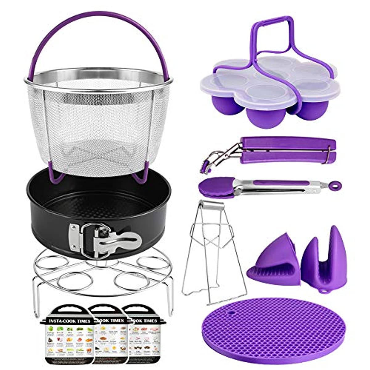 Details about 13 Piece Set for Instant Pot Accessories 6,8 Qt Purple  Kitchen Cooking Tools