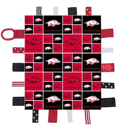 Arkansas Razorbacks Baby Sensory Tag Lovey Blanket