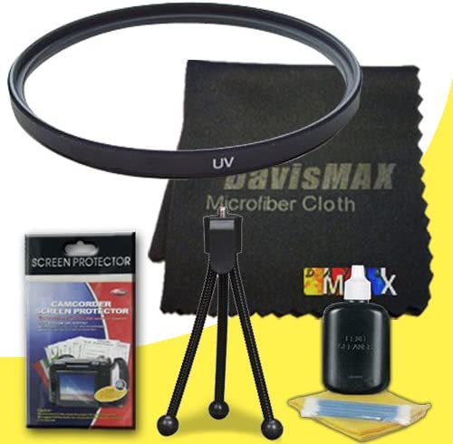 62mm UV Filter for Sony Alpha NEX-7 with Sony 10-18mm f//4 Wide Angle Zoom Lens DavisMAX Fibercloth Deluxe Filter Bundle