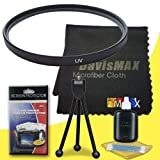 49mm UV Filter for Sony Alpha NEX-C3 with Sony 30mm f/3.5 Macro Lens + DavisMAX Fibercloth Deluxe Filter Bundle