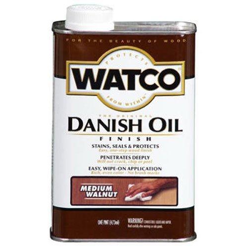 Watco 65341 Danish Oil Wood Finish, Quart, Black Walnut RUST-OLEUM