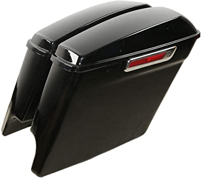 5 Complete Black Painted//Unpainted Extended Stretched Saddlebags Saddle bag With or Without Hardware latch kit and lock sets Painted Saddlebags With Hardware or Harley Touring 14-18