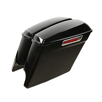 Home Motorcycle Stretched Extended Saddlebags For Harley Touring Electra Street Glide Road King 1993-2013 Matte Black Less Expensive