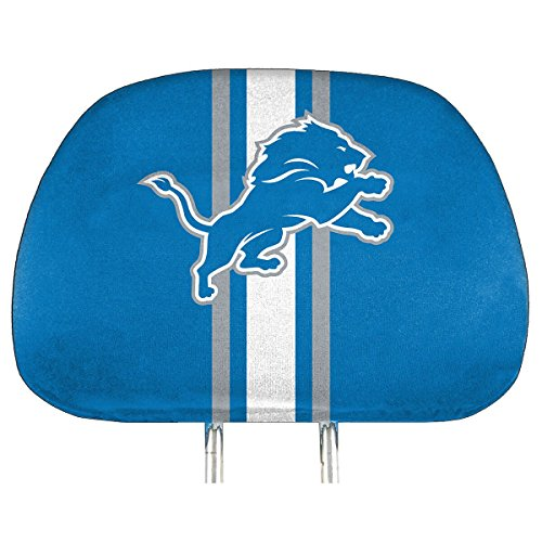 NFL Detroit Lions Full-Print Head Rest Covers, 2-Pack