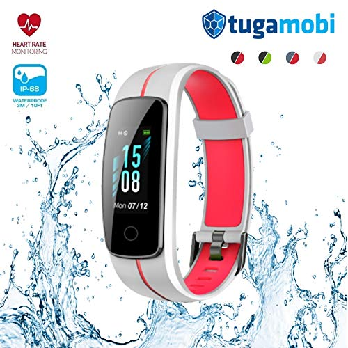 tugamobi Smart Band SB301 Present for Dad, Fitness Activity Tracker with Heart Rate Monitor, Sleep Monitor, IP68 Waterproof, Pedometer, Full Touch Screen