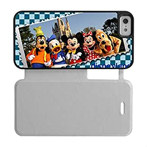 Leather Cover Hard Phone Case For Boy For Apple Iphone 5/5S Design With Disney Land Choose Design 1