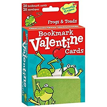 Peaceable Kingdom 28 Card Pop-Out Frog Bookmark Valentines with Envelopes