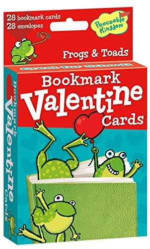 Peaceable Kingdom 28 Card Pop-Out Frog Bookmark Valentines with Envelopes ()