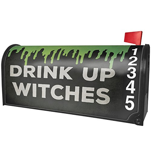 NEONBLOND Drink Up Witches Halloween Green Slime Magnetic Mailbox Cover Custom -
