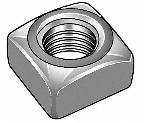 1''-8 Square Nut - Heavy, Plain Finish, Low Carbon Steel Low Carbon, EA1