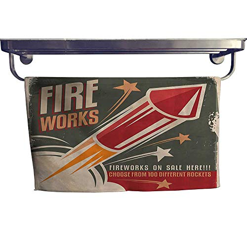 Leigh home Pool Gym Towels,Fireworks in Vintage Paper with Stars Rockets Western Halloween ,Good Ideal for The Kid's Room, a Guest Room W 27.5