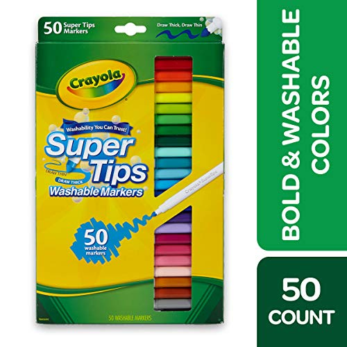 Crayola Super Tips Washable Markers Age 3+ - 50 Count
