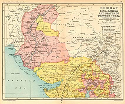 Amazon com: Bombay, Sind & Baroda  British India/Pakistan