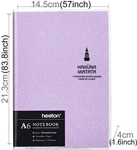 GXEXG Täglich Notepad, Lernen Zubehör Kreative einfaches Design Bunte Mode Gum Abdeckung A6 Tagebuch-Notizbuch (Rosa) (Color : Pink)
