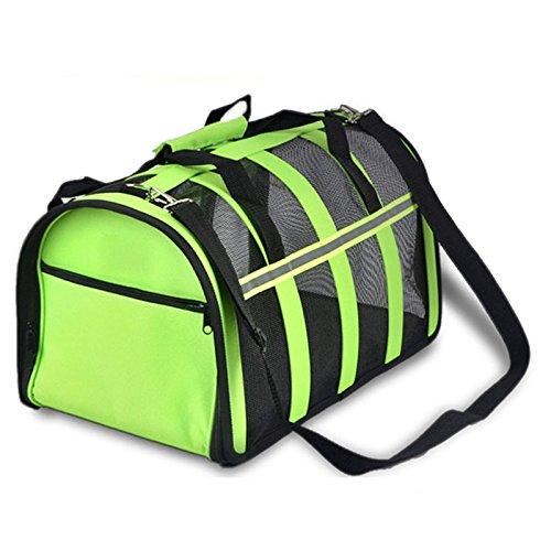 Green S Green S Zhhmeiruian Durable Crossbody Mesh Pet Cat Dog Carrier Bag Dog Car Seat Carrier