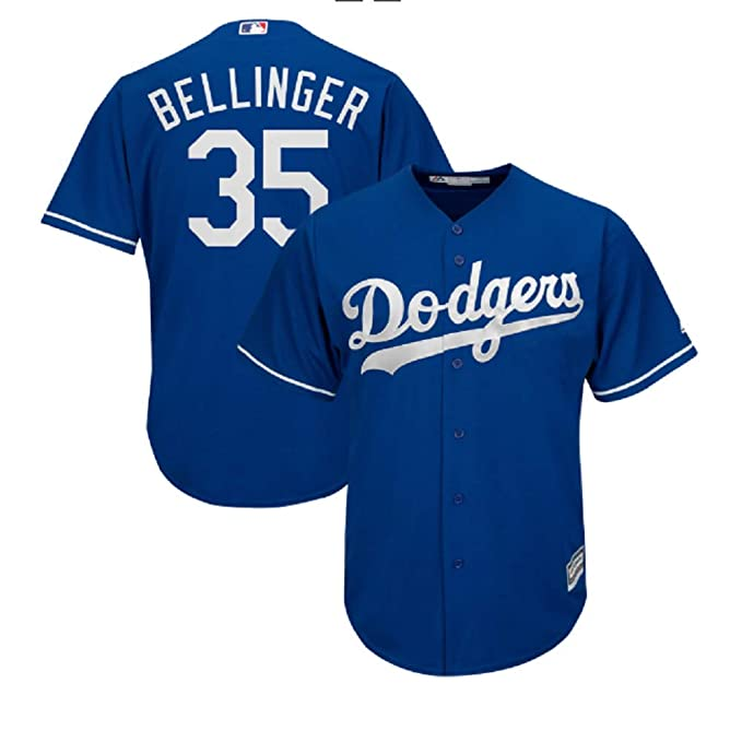 timeless design 2e6fc 11ea3 Amazon.com: VF #35 Cody Bellinger Cool Base Player Jersey ...