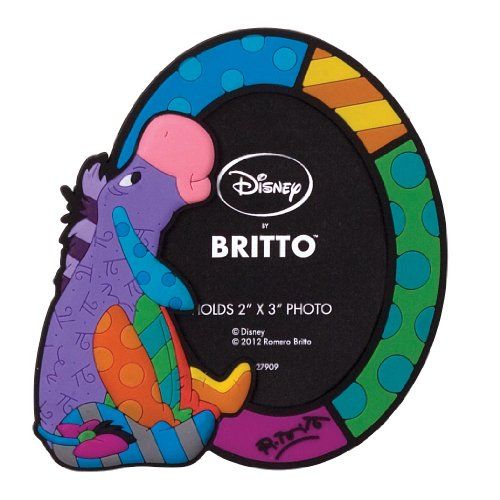 - Enesco Disney by Britto Eeyore Vinyl Magnetic Photo Frame, 4-Inch