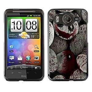 TECHCASE**Cubierta de la caja de protección la piel dura para el ** HTC G10 ** Halloween Spooky Blood Monster Pumpkin