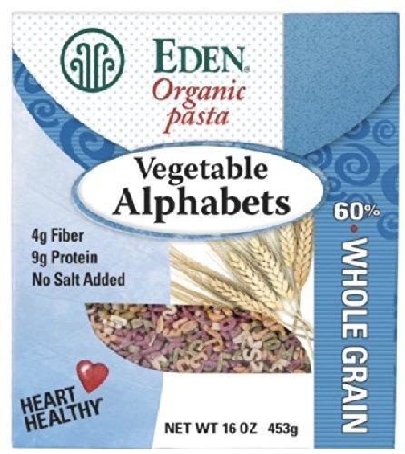 Eden Organic Pasta, Vegetable Alphabets 2 Pack (1 Lb Ea) (Eden Organic Whole Grain)