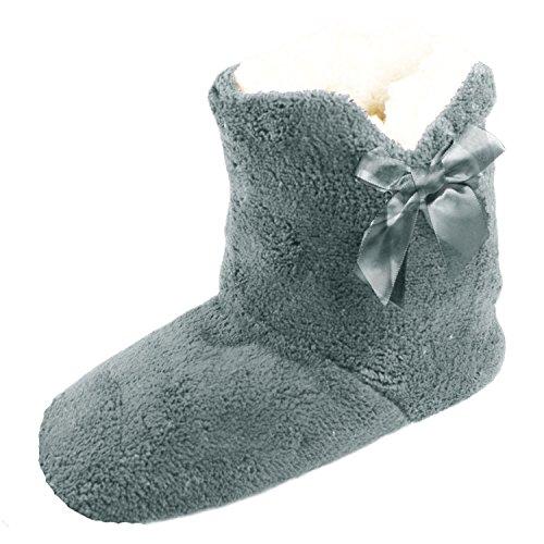 Dames Grey Chaussons Bottes Luxe Toesters Pariella Slipper Filles Doux Et Confortable dAqxvT