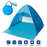 Automatic Pop up Instant Portable baby Cabana Beach Tent Anti UV Beach Shade Sun Shelter, Sets Up in Seconds, 65″ x 59″x 43.5″, Blue (light blue) For Sale