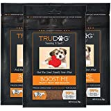 TruDog: Boost Me - Mighty Meaty Beef Booster - 3.5 oz - All Natural Dog Food Enhancer - Freeze-Dried Raw Superfood Supplement - Easy to Mix and Enhances The Nutritional Value Dry or Wet Dog Food