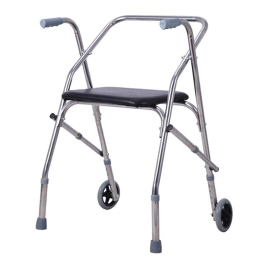 THOR-YAN - ステッキ 杖セーフ杖 ウォーカー老人用シートプーリー折りたたみ式オールドウォーカー無効滑りやすい4本足ステッキ (Style : B) B  B07TTKWZ3J