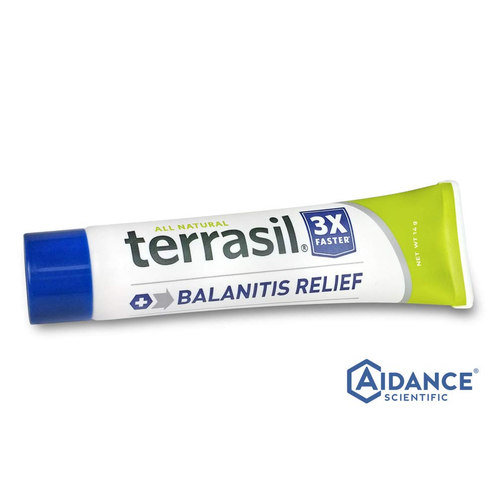 Terrasil® Balanitis Relief - 100% Guaranteed, Patented All-Natural, Gentle, Soothing Skin Relief Ointment for Relief from Irritation, Itch, Redness and Inflammation, Balanitis Symptoms - 14g by Aidance Skincare & Topical Solutions