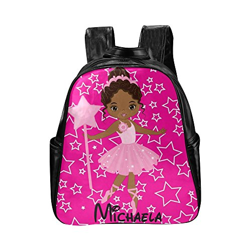 African American Kids Backpacks, Cute Girls Book bag Diaper Backpack Bag Pink by Brownkidswag