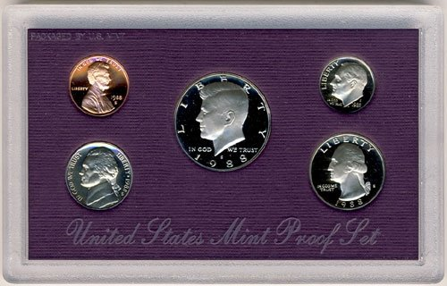 1988 S Clad Proof 5 Coin Set in Original Government Packaging Proof