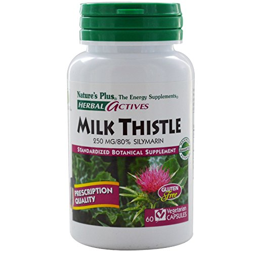 Nature's Plus, Herbal Actives, Milk Thistle, 250 mg, 60 Veggie Caps - 3PC by Nature's Plus