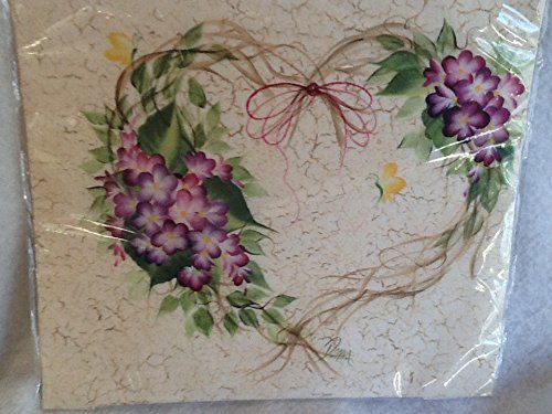 Quilt Square by Donna Dewberry, Wisteria Wreath Square, 8.5