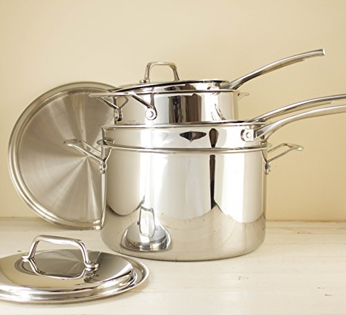 USA Pan Cookware 5-Ply Stainless Steel 13 Inch Gourmet Chef Skillet With Cover, Oven and Dishwasher Safe, Made in the USA by USA Pan (Image #7)