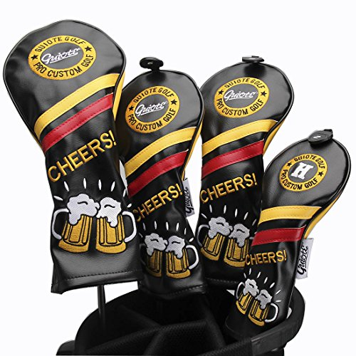 Guiote Golf Headcover 1 3 5 H Set Cheers Fasion Design Vintage Style Golf Headcover fits 460cc Drivers (Stitch Golf)