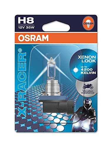 OSRAM X-RACER H8 Halogen, Motorrad-Scheinwerferlampe, 64212XR-01B, Einzelblister (1 Stück)