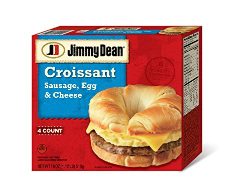 Jimmy Dean, Sausage Egg and Cheese Croissant, 4 ct -