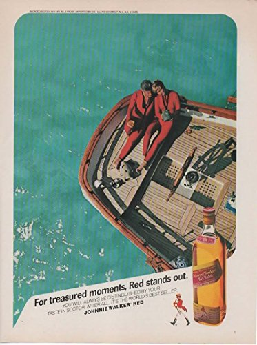 Magazine Print Ad: 1987 Johnnie Walker Red Label, Blended Scotch Whisky,