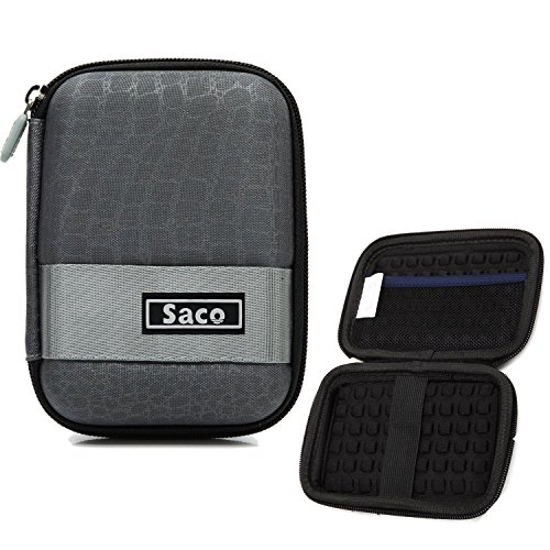 Saco External Hard Disk Hard Case Pouch Cover Bag for Lenovo F310S 1TB  Grey