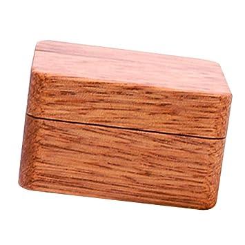 FLAMEER Caja de Madera Elegante Estuche de Almacenaje para ...