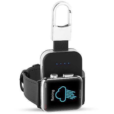 FOONEE Llavero diseño Mini Cargador Hecho para Apple Watch, Cargador inalámbrico portátil con Banco de energía de 950 mAh Integrado para Apple Watch ...