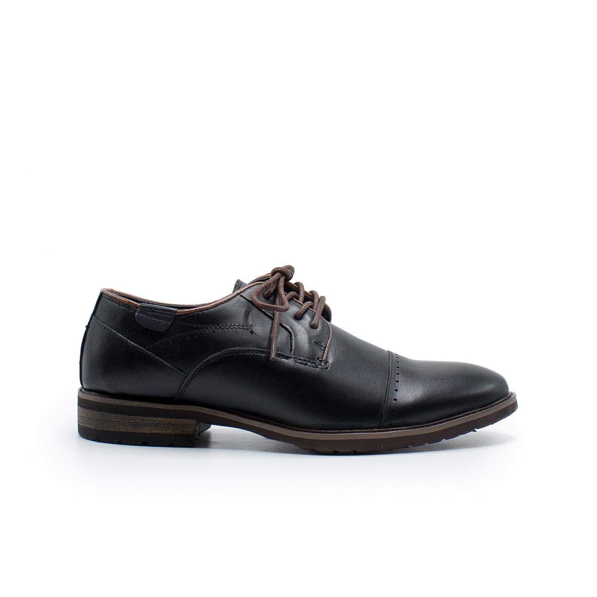 TALLA 44 EU. Zapshop Z80502 Zapato Casual de Vestir de Color Negro para Hombre
