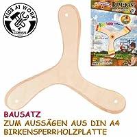 Bumerang 3 Flügler Corvus Bausatz mit Schablone aus Birkensperrholz Kids at work