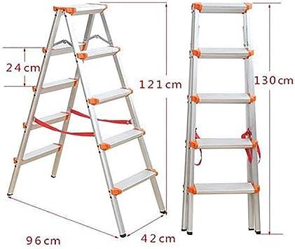 Plegables Aluminio Aleación Escalera,multiusos Antideslizante Escaleras De Mano Portátil Casa Escalera Para El Hogar Cocina Oficina Almacén-naranja5: Amazon.es: Bricolaje y herramientas