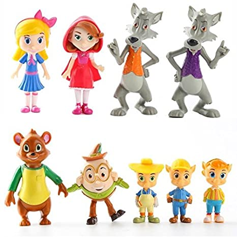 Amazon com: 9 pcs Junior Goldie and Bear Little Red Riding