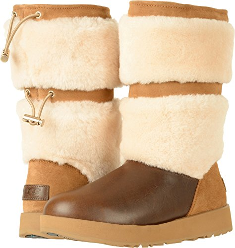 UGG Womens Reykir Waterproof Boot, Chestnut, 5.5 B(M) US