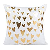 Pillow Cases ,Thenlian Sequins Cushion Cover 45cmX45cm/18X18 Pillow Case Plush pillow cover pillowcase Gold Foil Printing Throw Pillow Case Geometric autumn decorative square Home Decor (F)