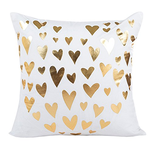 GOVOW Home Decor Gifts Gold Foil Printing Pillow Case Sofa Waist Throw Cushion Cover