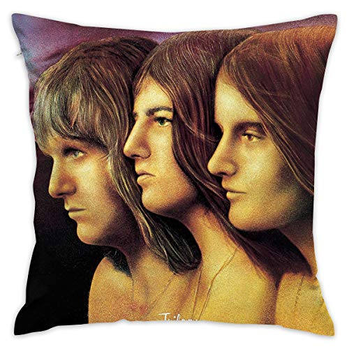 FankTasf Emerson Lake Printed Pillowcase Square Decorative Pillowcase 18 X 18 Inch Cushion Cover Suitable for Living Room Bedroom Sofa Sofa Bed Car Seat