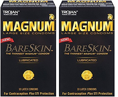 Trojan Magnum Bareskin Lubricated Condoms, 24 Count- (Pack of 2) by Trojan